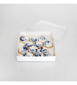 """Cookie Box Square - Clear Lid 6x6x1"""""""