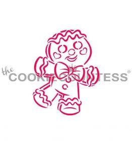 Happy Gingerbread Man PYO Stencil