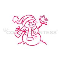 Snowman With Bird PYO Stencil