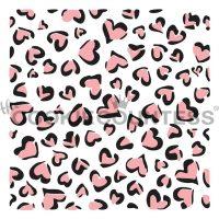 Leopard Print Hearts Stencil (2 Piece)