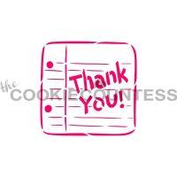Thank You Note PYO Stencil