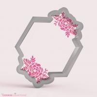 Jamestown Hexagon with Flowers