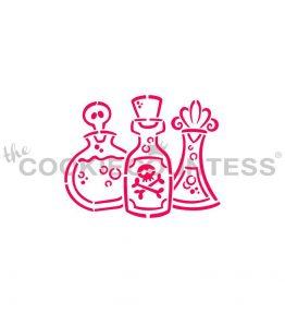 Potion Bottles Stencil
