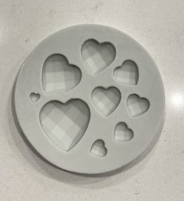 Geometric/Quilted Hearts Mould