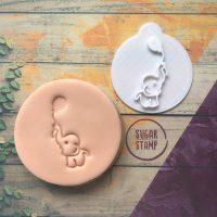 Elephant & Balloon Embosser Stamp